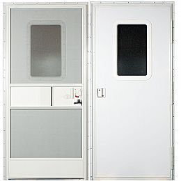26 x 68 Trailer Entry Door - Square Top Corners , AP Products 015-217715