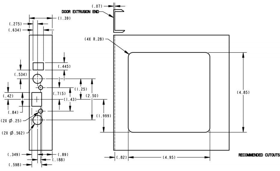 Trimark RV Door Lock w/Dead Bolt 60-650 (T507)