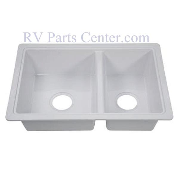 Rv Kitchen Sinks Double Kitchen Sink 25 X 19 X 7 White