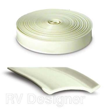 Vinyl Insert Trim Molding 1 in x 25 feet HD Colonial White, RV Designer E363