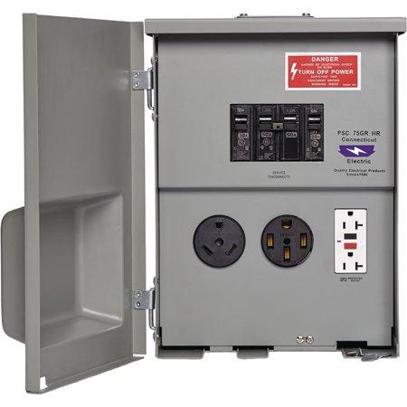 220 Volt Outlet >> Rv Power Panels Power Outlet Box 120 220 Volt 30 50 Amp Parallax